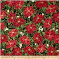 Christmas Star Metallic Packed Poinsettias Black