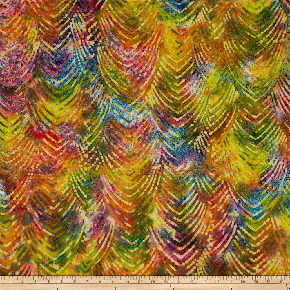 Indian Batik Gypsy Chevron Bright Multi