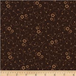 108'' Wide Tonal Florals & Swirls Quilt Back