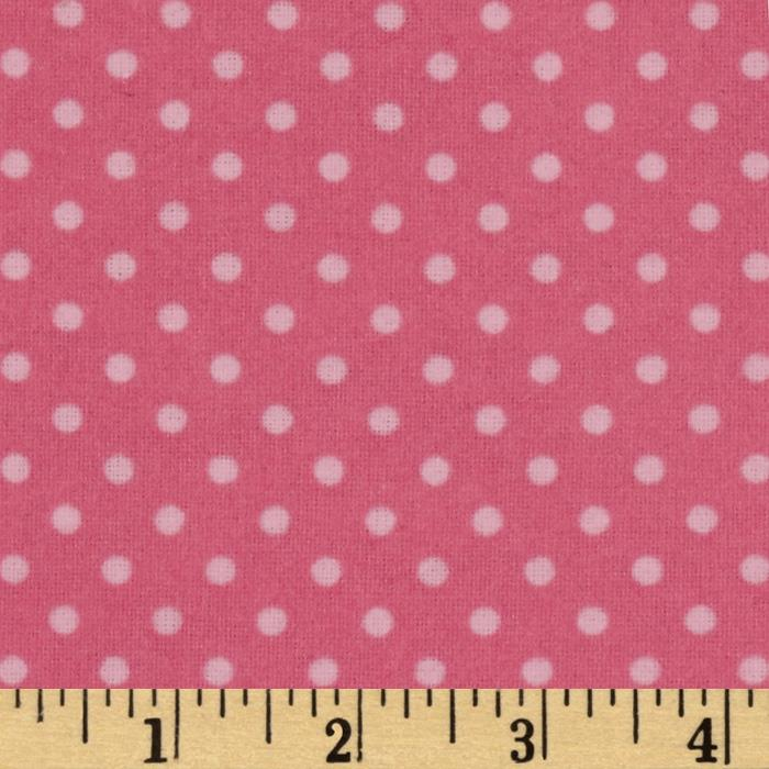 Whoo's Cute Flannel Dots Pink