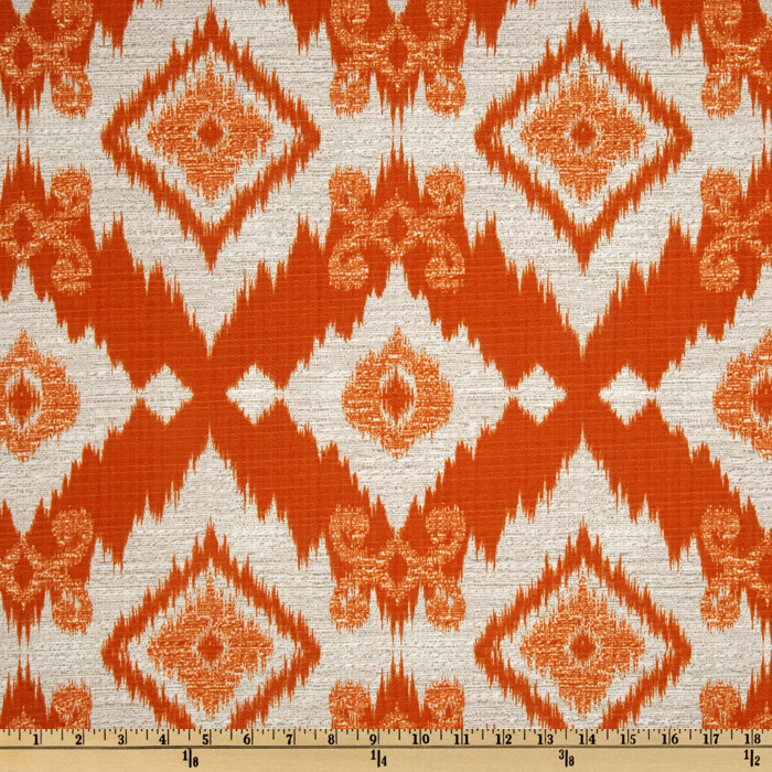 Richloom Solarium Outdoor Santaeo Tangerine Home Decor Fabric