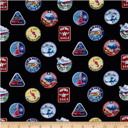 Flying High Badges Black