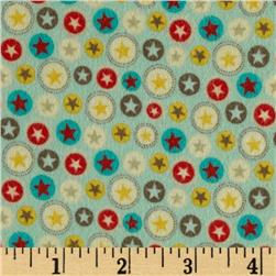 Riley Blake Boy Crazy Flannel Stars Teal