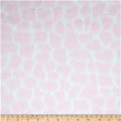 Minky Cuddle Giraffe Baby Pink/White