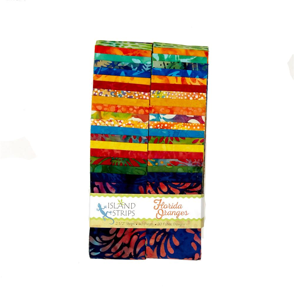 "Florida Oranges 2.5"" Batik Strip Pack"