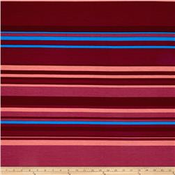 Rihan Jersey Knit Burgundy/Orange Stripes
