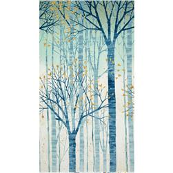 Robert Kaufman Sound of the Woods Metallic Large Tree Mist
