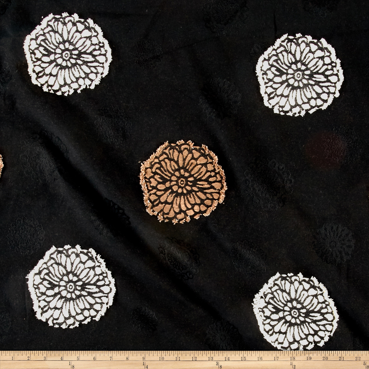 Richloom Kutter Jacquard Midnight Fabric by TNT in USA