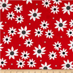 Steppin' Out Daisies Red