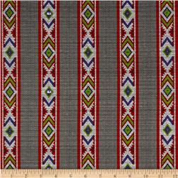 Ink & Arrow Indian Paintbrush Indian Blanket Stripe Dark Gray