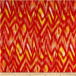 Crepe Georgette Watercolor Zig Zag Sunset