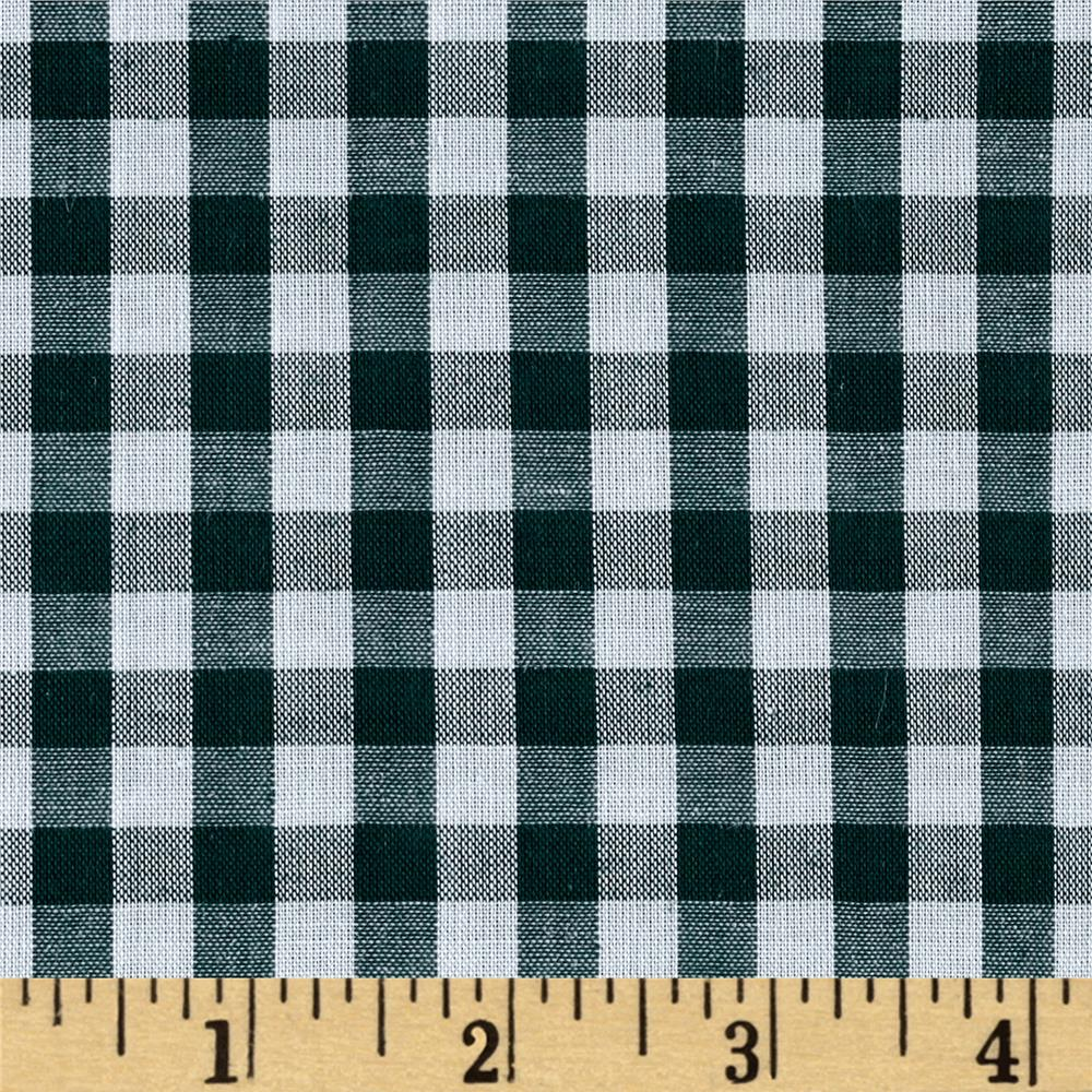 "Richcheck 60"" Gingham Check 1/4"" Hunter"