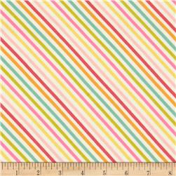 Riley Blake Fancy Free Flannel Stripe Multi Fabric