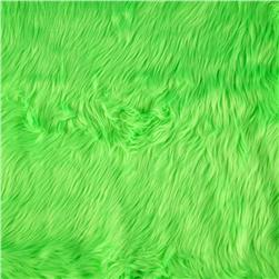Faux Fur Luxury Shag Neon Green Fabric