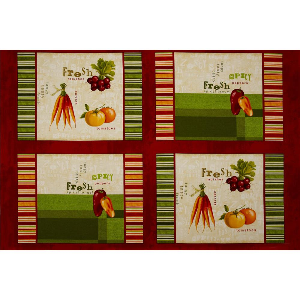 Fresh & Tasty Vegetables Panel Red/Multi
