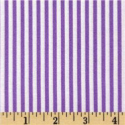 Michael Miller It's A Girl Thing Little Stripe Purple