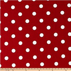 Premier Prints Polka Dots Lipstick/White Fabric