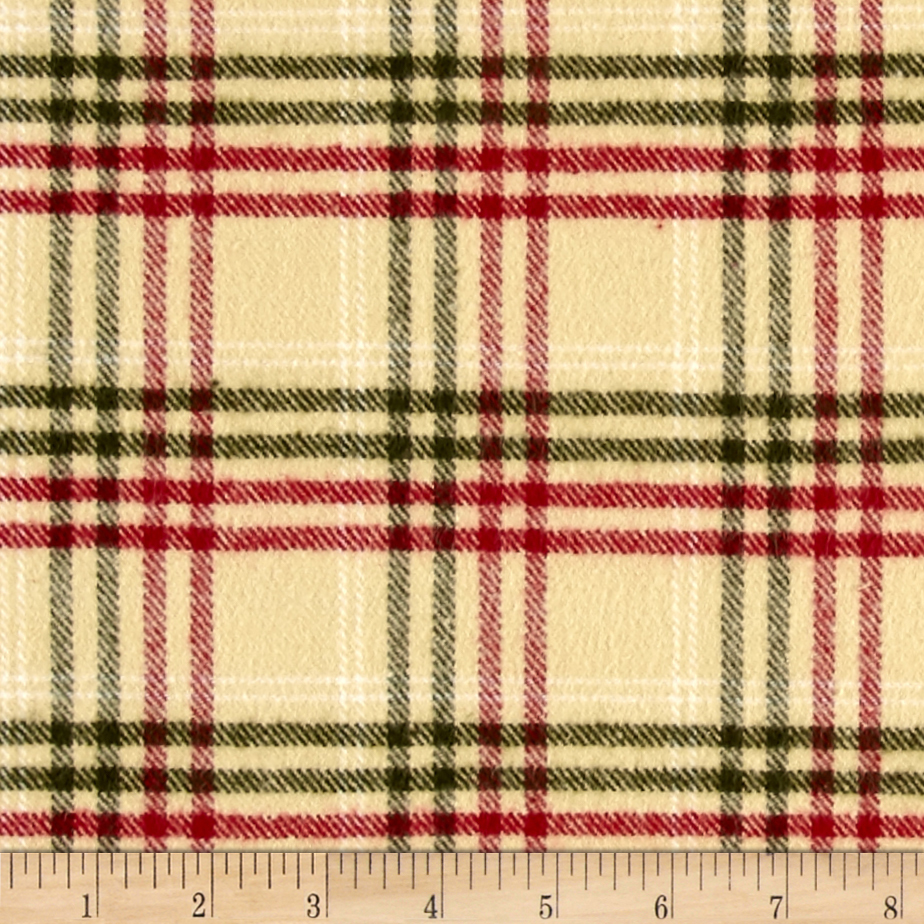 Primo Flannel Christmas Plaid Multi Fabric by Marcus in USA