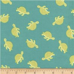 Timeless Treasures Splish Splash Sea Turtles Jade