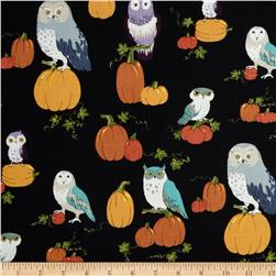 Haunted House October Owl Black
