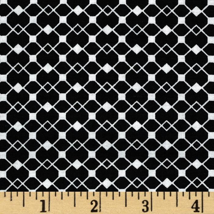 Mod Designs Diamond Squares Black/White