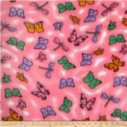 Printed Fleece Butterfly Pink