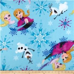 Disney Frozen Fleece Sisters Ice Skating Badge Toss Blue