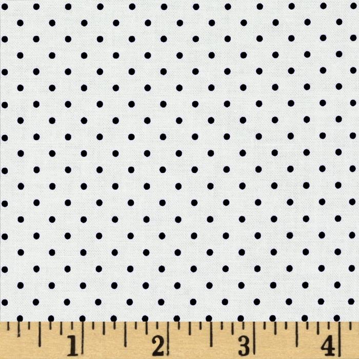 Riley Blake Swiss Dots White/Black