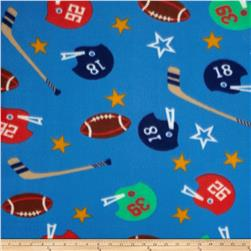 Printed Fleece Sports Blue/Multi