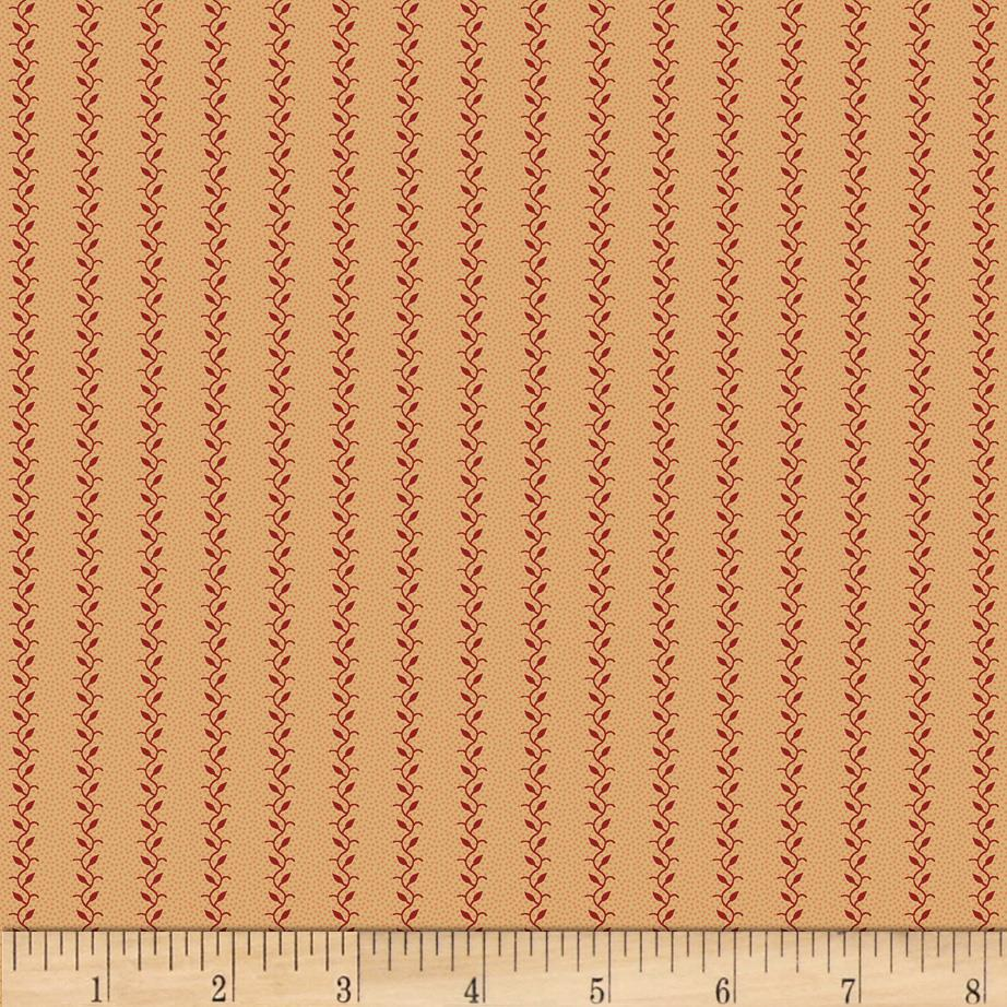 Judie's Album Quilt Single Vine Stripe Pink