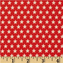 Riley Blake Rocket Age Flannel Stars Red Fabric