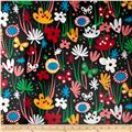 Flirty Flower Slicker Laminated Cotton Flower Assortment Black