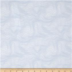 Beach Retreat Waves White Fabric