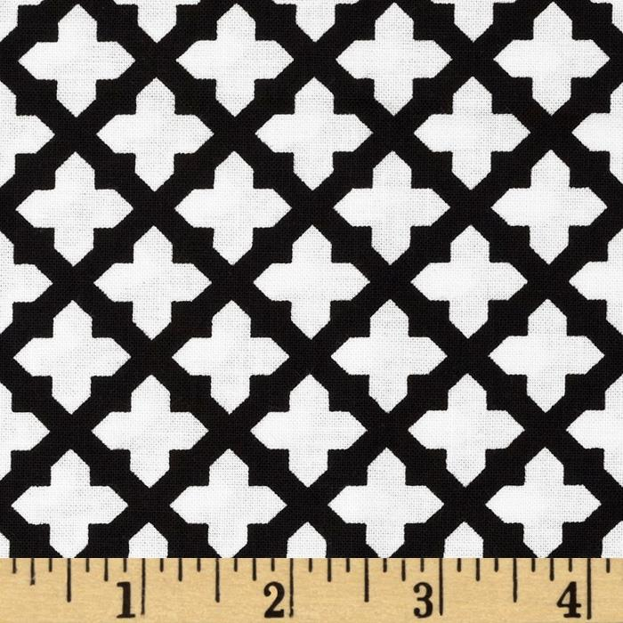 Black & Tan Lattice Black/White