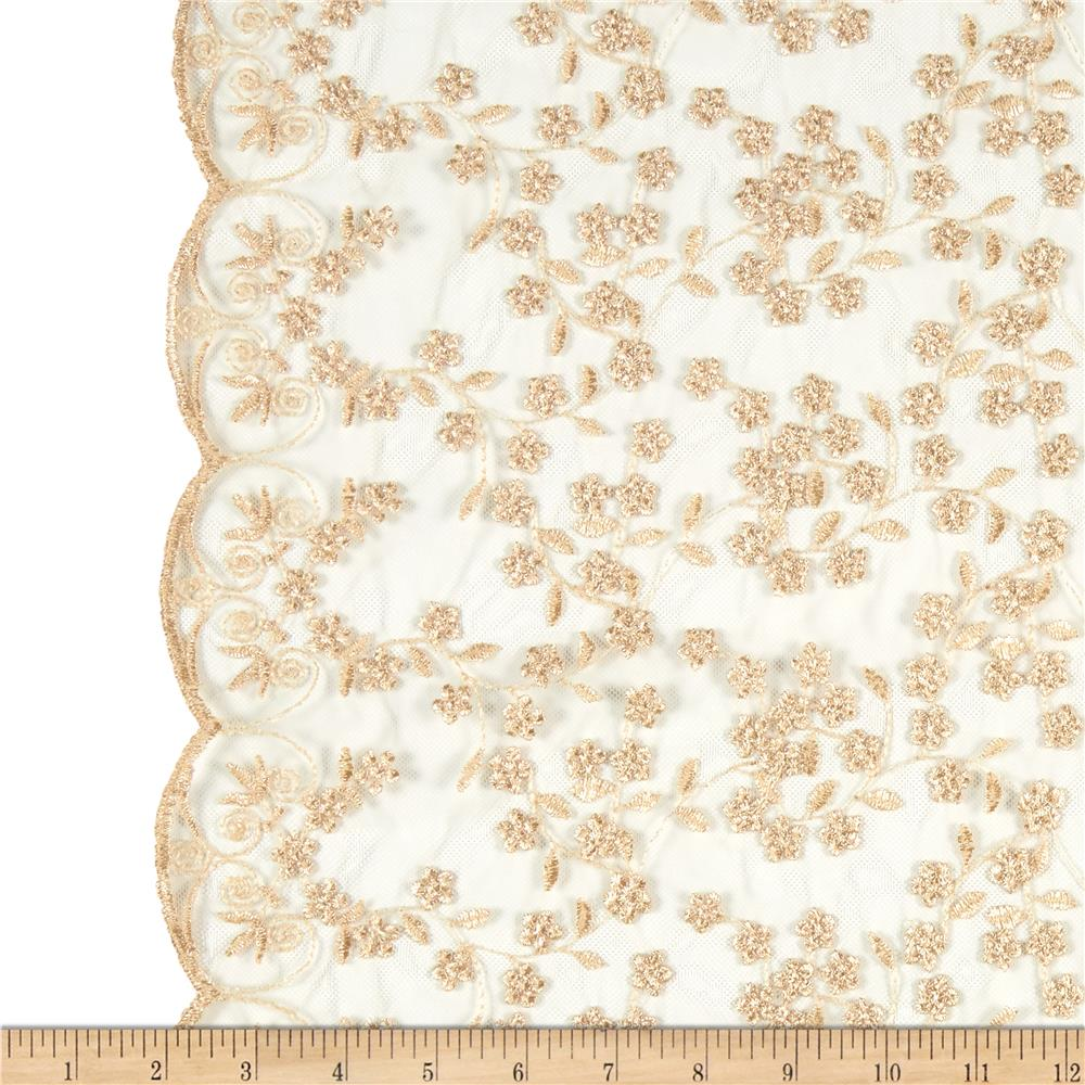 Telio Daisy Embroidery Gold