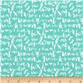 Cloud 9 Organic Typography Script Turquoise