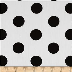 Cotton Poplin Polka Dots White/Black