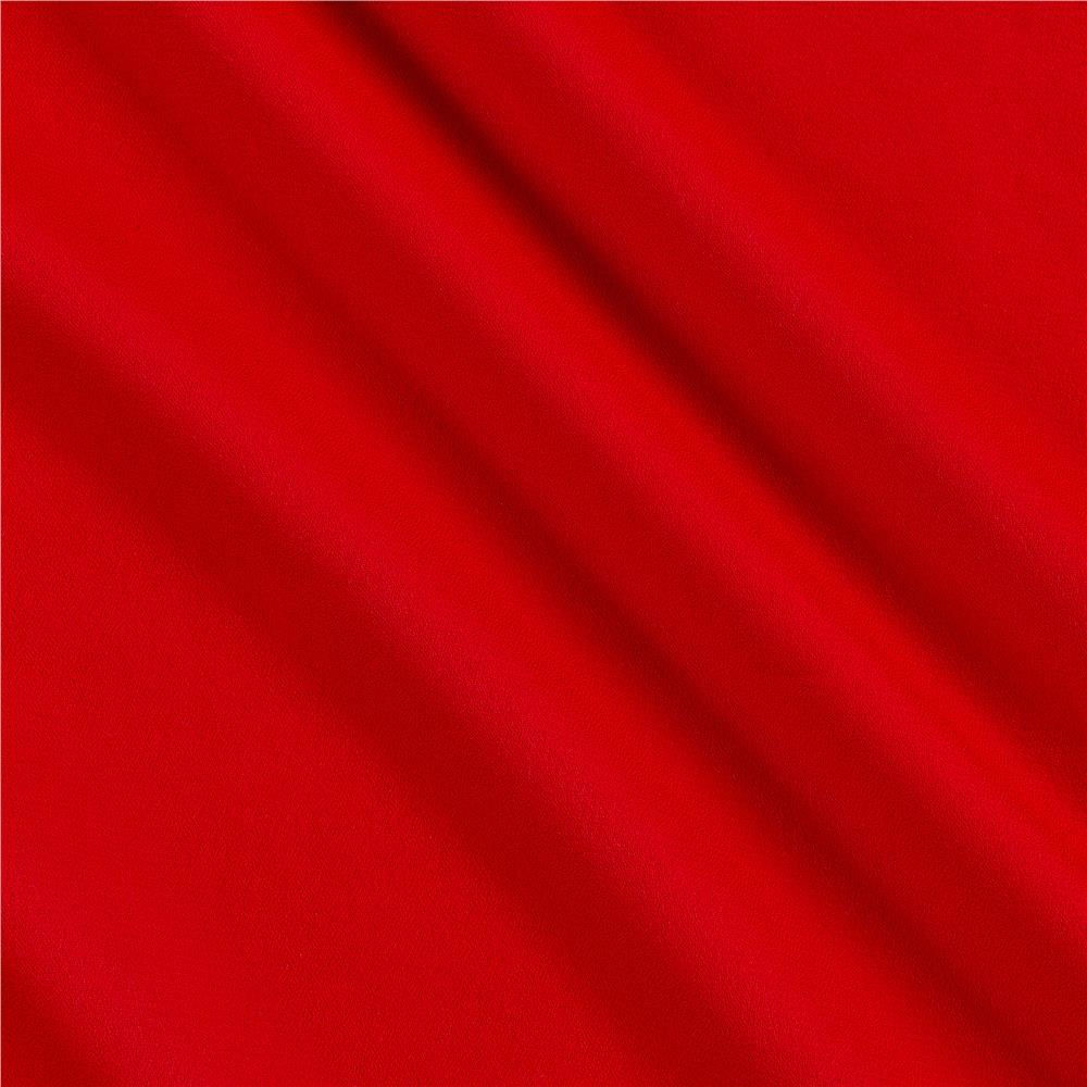 Double Georgette Red
