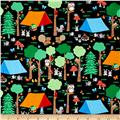 Camping Club Forest Scene Dark Grey