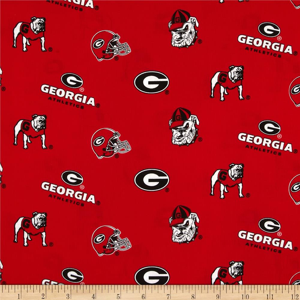 Collegiate Cotton Broadcloth University of Georgia