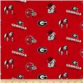 Collegiate Cotton Broadcloth University of Georgia Red