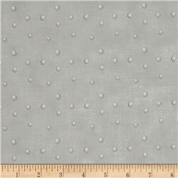 Silent Christmas Tossed Dots Grey
