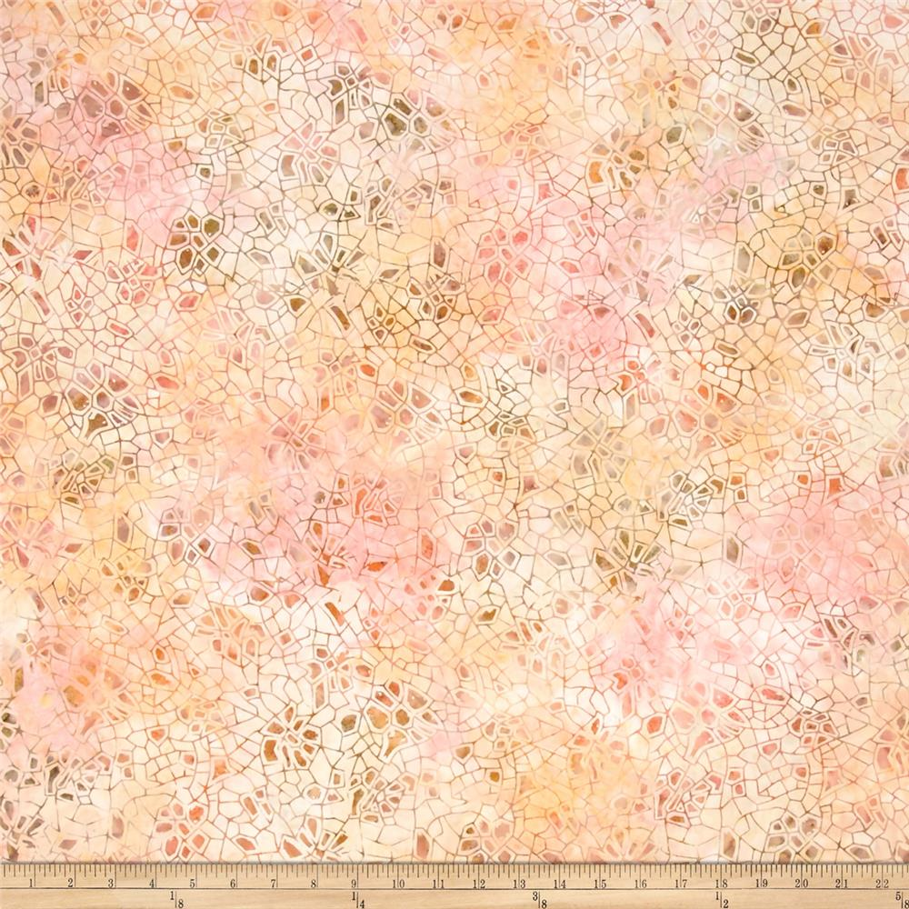 "106"" Wide Wilmington Batik Quilt Back Crackle Pink/Orange"