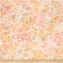 "106"" Wide Batavian Batik Quilt Back Crackle Pink/Orange"