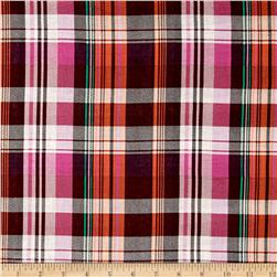 Cotton Plaid Lawn Fuchsia/Pink