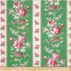Rosewater Climbing Blooms Grass Fabric