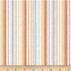 Truck Stop Patterned Stripe Ecru