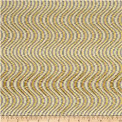 Lavish Metallic Swirl Stripe Charcoal