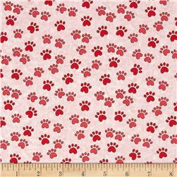 Miss Kitty's Colors Paw Print Pink