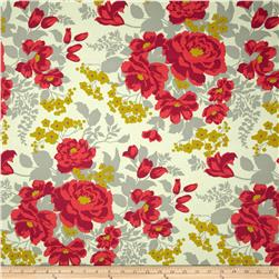 Joel Dewberry Flora Home Decor Sateen Rose Bouquet Poppy